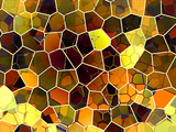 honeycomb abstract poster