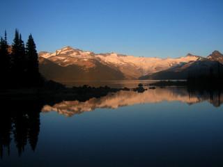 reflection in garibaldi lake, canada