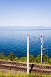 Постер, плакат: trans siberian railroad near lake baikal