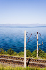 trans-siberian railroad near lake baikal