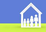 family illustration - home insurance poster
