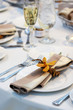 Leinwandbild Motiv wedding table with orchid
