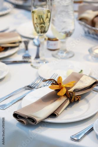 Leinwanddruck Bild wedding table with orchid
