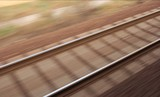 railway track blur poster