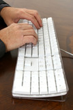typing hands poster