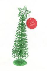 green christmas tree isolated