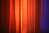 spot lights against stage curtain poster