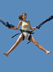 girl bungee jumping