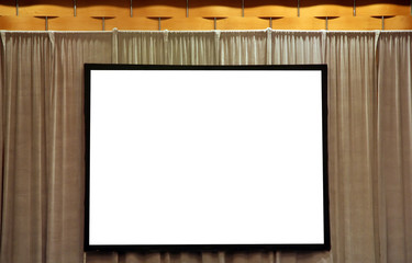 blank white screen for presentation
