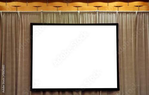 blank white screen for presentation