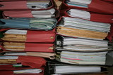 piles of files