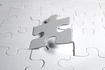 blank white jigsaw puzzle