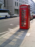 english telephone booth poster