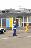 man directing traffic 2 poster