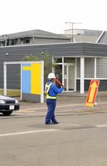 man directing traffic 2