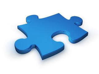 puzzleteil blau 2 - puzzle piece blue