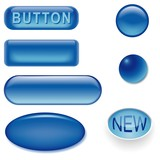 glass buttons blue poster