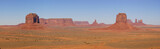 monument valley panorama with 5 mesas poster