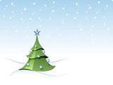 christmas fir tree poster