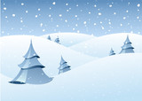 winter woodland scenery poster