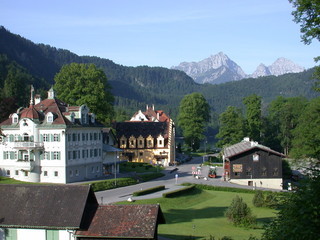 view from ludwig's castle in bavaria