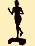 aerobic women training gym poster