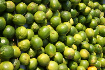 limes at a market stall