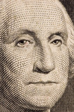 washington on a $1 bill extreme close up poster