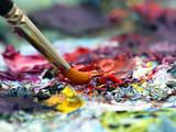 Fototapete Malen - Canvas - Moderne