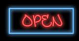 neon signboard - open poster