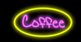neon signboard - coffee poster