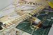 canvas print picture - r/c plane construction