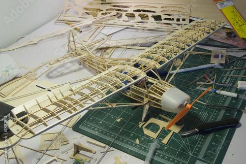 canvas print picture r/c plane construction