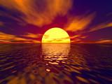 sunset and sunbeam poster