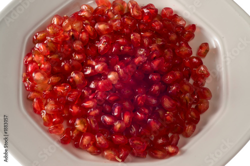 dish of pomegranate grains