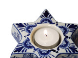star shaped porcelain candle stand poster