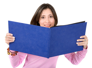 female student with a book