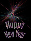 fireworks background - new years eve fractal poster