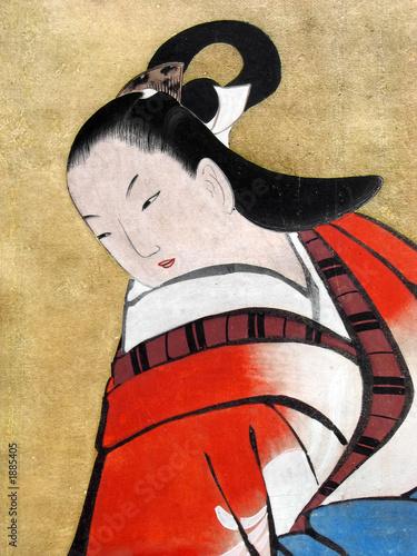 beautiful japanese woman wearing traditional kimon