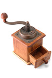 retro coffee grinder poster