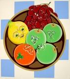 fruit portrait poster