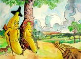 mr banana and his wife poster