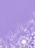 christmas lilac background poster