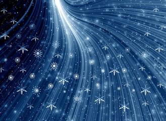 christmas snow abstract
