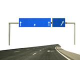 highway sign - direction poster
