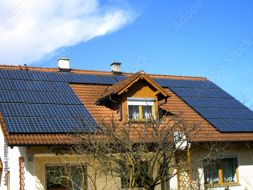 Leinwanddruck Bild photovoltaik