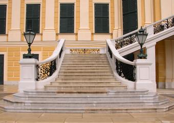 schonbrunn palace stairway