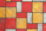 colored paving slab texture #3 poster