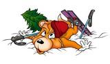 dog-fox skier poster