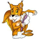 squirrel 01 washing poster